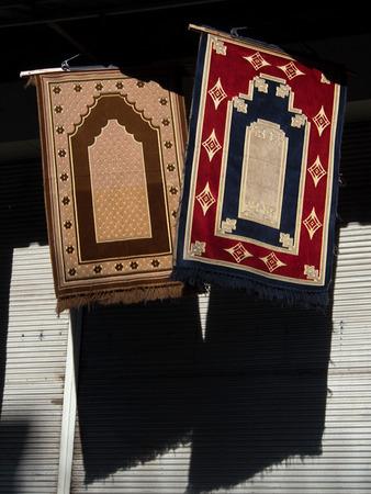 prayer rug: Prayer Rugs Stock Photo
