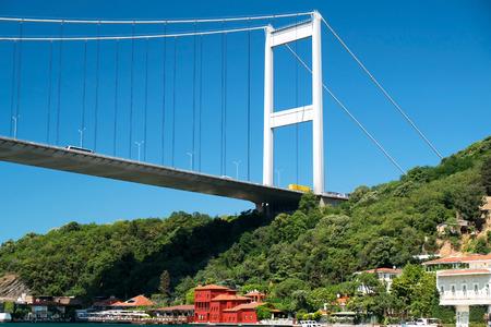 mehmed: Fatih Sultan Mehmed Bridge at Istanbul, Turkey  Stock Photo