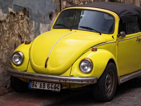 Convertible Yellow VW Beetle