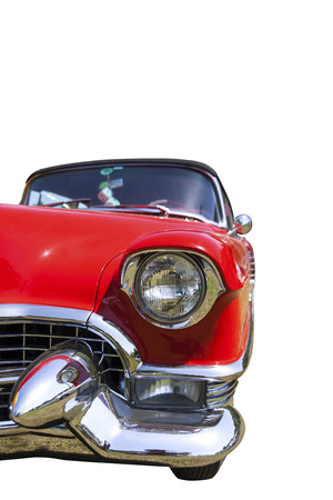 Classic Cadillac Isolated On White Stock Photo