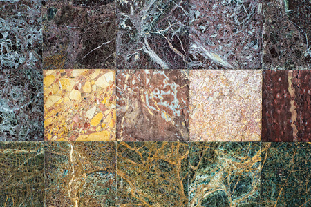 Old multicolored natural marble wall photo