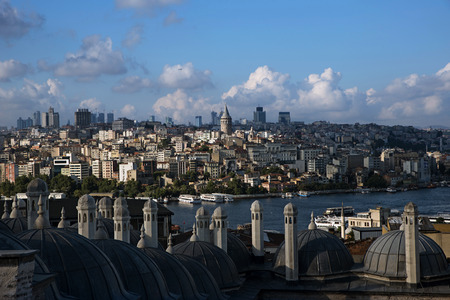 complicated journey: View from The Suleymaniye Mosque over The Istanbul