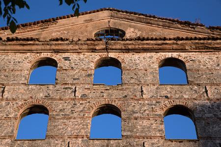 ruin: Windows of A Stone Ruin Stock Photo