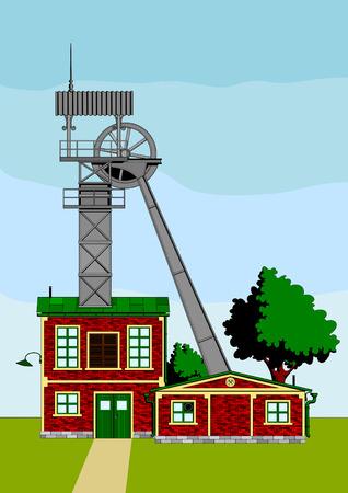 kopalni: małe, węgiel starych, bezużyteczny i opuszczonych kopalni