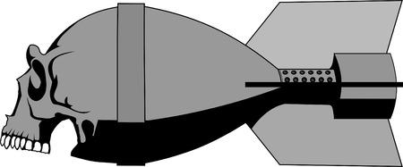 skull bomb Vector