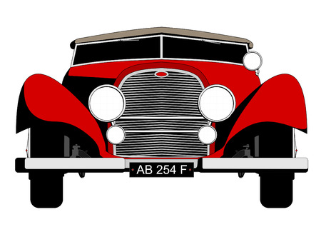 old red sports car,vector illustrations,image format - A4 Vector