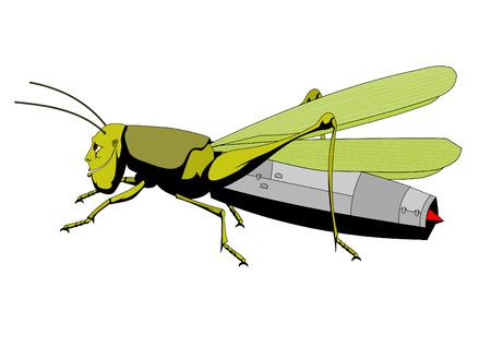 grasshopper jet engine,vector illustrations,image format - A4 Ilustração
