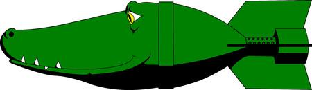 Crocodile bomb Vector