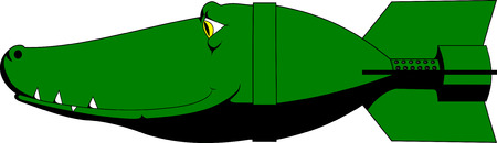 Crocodile bomb Vector