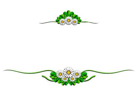 daisy cartoon ornaments Stock Vector - 7213183