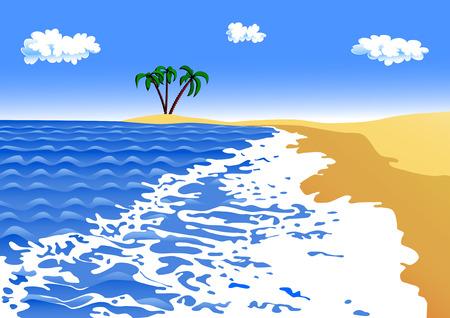 breaker: sea surf on a sandy beach