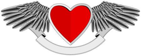 Winged Heart logo Stock Vector - 7578451