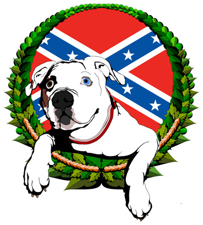 American bulldog Vector