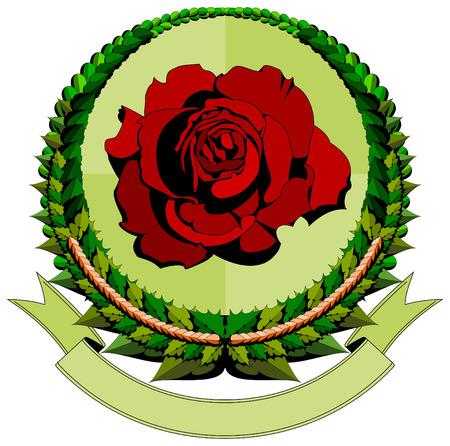 red rose cartoon logo  Vector