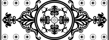 secession: black and white Art Nouveau ornament