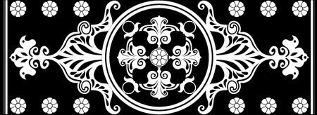 black and white Art Nouveau ornament