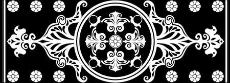 noir et blanc Art Nouveau ornement