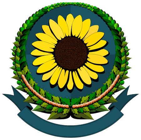 Sunflower cartoon logo  Vector