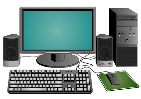 pc icon: computer set Illustration