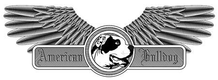Winged American Bulldog logo