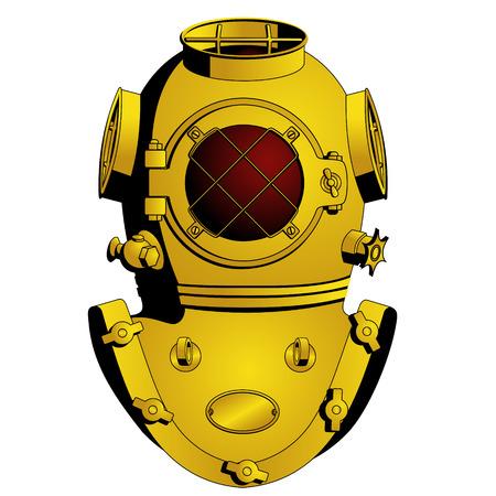 Retro helm duiken Vector Illustratie