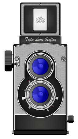 reflexe: Appareil photographique Reflex de la lentille de Twin Illustration