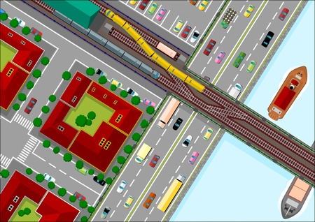 crossroads: traffic in the city
