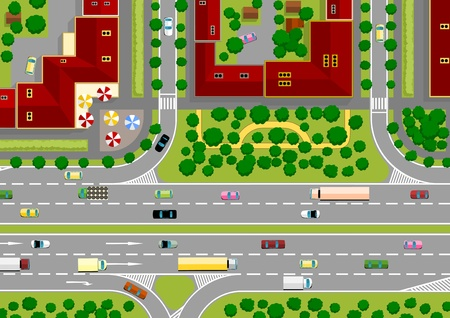 paso de peatones: autopista de la ciudad Vectores