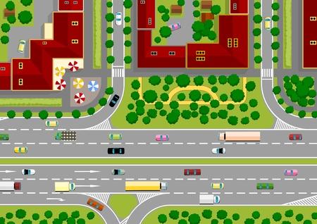 passage pi�ton: autoroute dans la ville