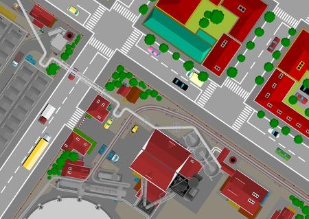 zebra crossing: Ciudad del Acero, con la zona residencial
