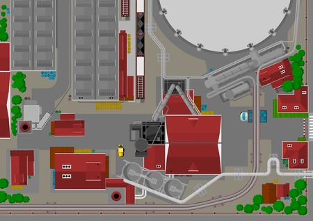steel mill: heavy industry