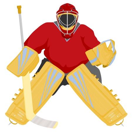 hockey goalie Illustration