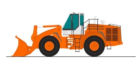 car loader: Wheel Loader Illustration
