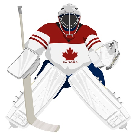 Team Canada hockey goalie Vector