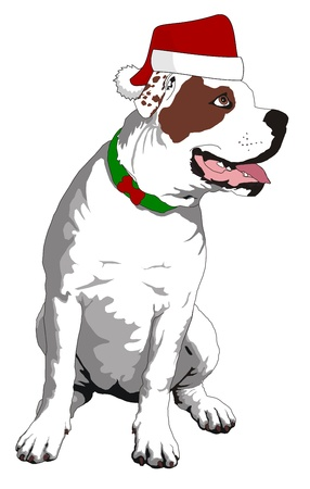 Christmas Bulldog Vector