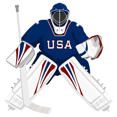 Team USA hockey goalie Stock Vector - 11674292