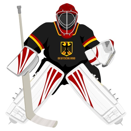 Team Germany hockey goalie Vector
