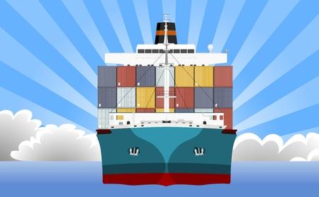 container cargo ship: Cargo Container Ship