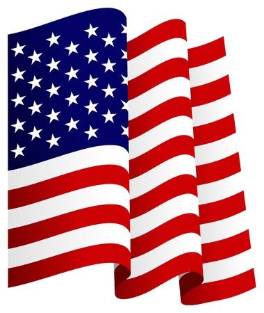 Waving U.S. Flag