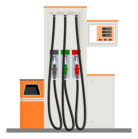 gas pump: Modern Gas Pump Illustration