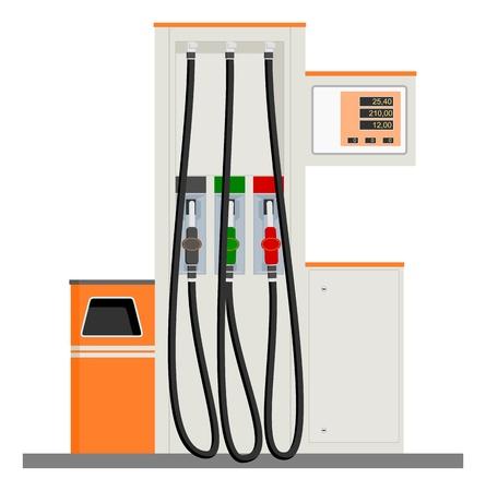 Modern Gas Pump Vector