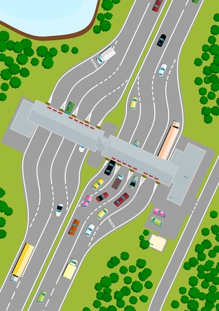 toll: Highway Toll Illustration