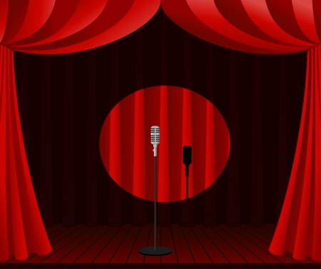 stage for one man show Stock Vector - 15995649