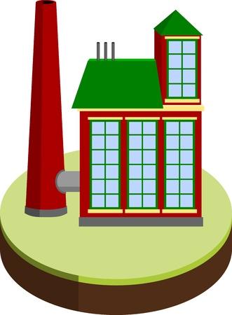 small factory Illustration