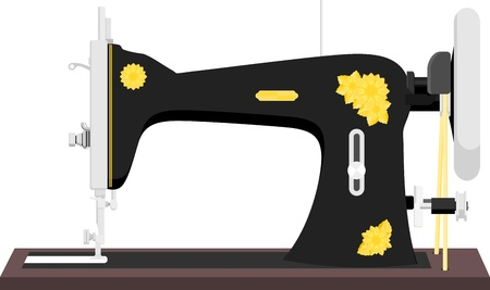 vintage sewing machine Stock Vector - 19490333