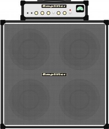 bass guitar amplifier Illustration