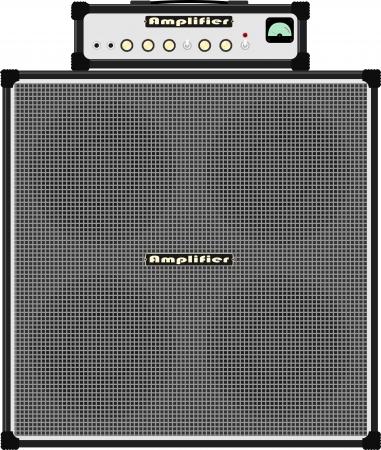 guitar amplifier: bass guitar amplifier Illustration