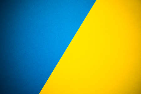Yellow and blue abstract diagonally divided background