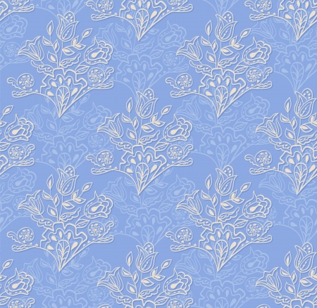 Seamless abstract hand-drawn pattern  Seamless pattern can be used for wallpaper, pattern fills, web page background,surface textures  Floral textile background