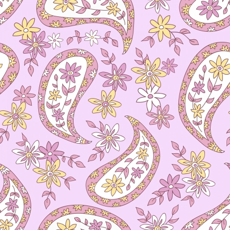 Paisley floral textile pattern  Seamless pattern can be used for wallpaper, fabrics, paper craft projects, web page background,surface textures  Abstract vintage seamless background Stock Vector - 19959705
